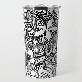 Hawaiian Polynesian Trbal Tatoo Print Travel Mug