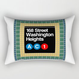 subway washington heights sign Rectangular Pillow