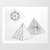 Sacred Pyramid Art Print