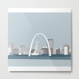 Modern Minimal St. Louis Missouri City Skyline Metal Print