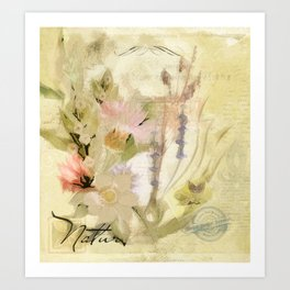 Garden Flower Painting 01 Art Print