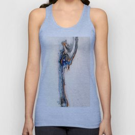 Simple Blue Fluid Flow Abstract Unisex Tank Top