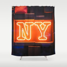Neon NY Shower Curtain