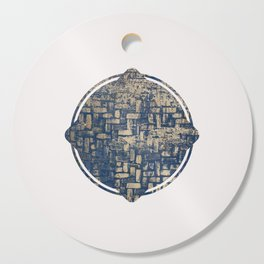 Blue Squircle Cutting Board