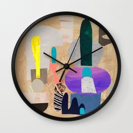 Exclamation Mark in Pink Wall Clock