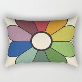 James Ward's Chromatic Circle (no background) Rectangular Pillow