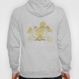 Year of the Ram Gold and Red Hoody