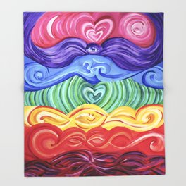 Chakra Art Throw Blanket