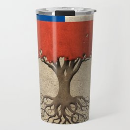 Vintage Tree of Life with Flag of Chile Travel Mug