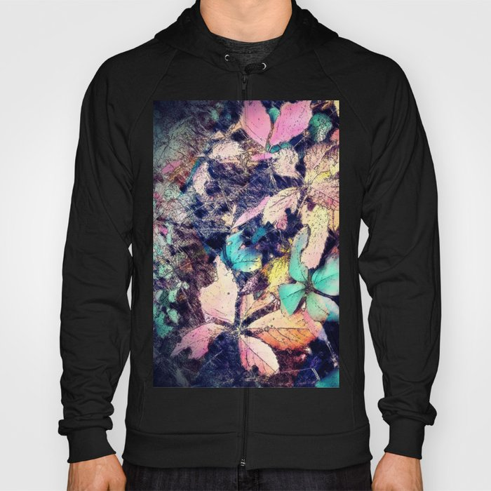 Autumn multi color palette leaves Hoody