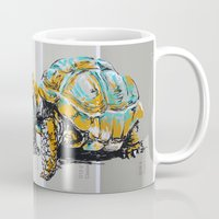 tortoise Mugs featuring Tortoise by aceta