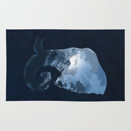 Elephants in the Night Rug