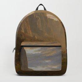 Looking Down Yosemite Valley California By Albert Bierstadt | Reproduction Painting Backpack