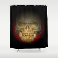 vampire Shower Curtains featuring Vampire by Mylittleradical