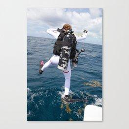 Scuba Diver Jump Canvas Print