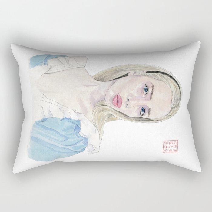 Alice in Selfie-land Rectangular Pillow