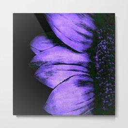 Purple Sunflower Flower Metal Print
