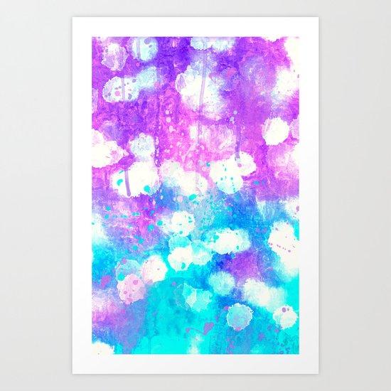 Splash bokeh. Art Print