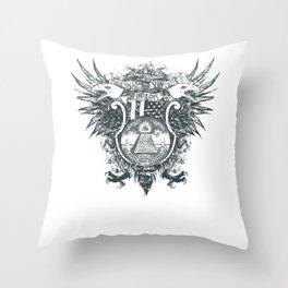 New World Order Original Vintage Apparel Throw Pillow