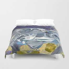 Avalanche - Purple Grey Gold Duvet Cover
