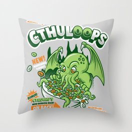 Cthuloops! All New Flavors! Throw Pillow