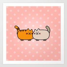 Romantic Cats Art Print