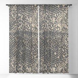 Snake Almond Buff Sheer Curtain