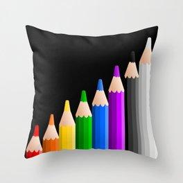 ColoredPencils Throw Pillow