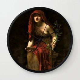 "John Collier ""Priestess of Delphi"" Wall Clock"