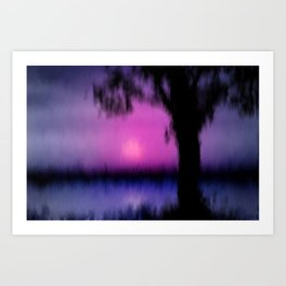 Good bye day. Art Print