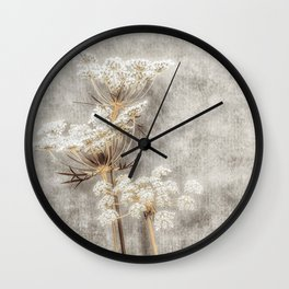 French Country Queen Anne's Lace Wall Clock