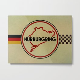 Nürburgring, the Green Hell Metal Print