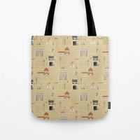 florence Tote Bags featuring Florence by Charlotte Langstroth