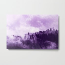 Clear away the fog to see the light. Purple Metal Print