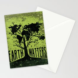 Cool design on this Earth day Stationery Cards
