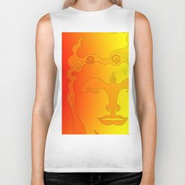 Buddha Head Rainbow I Biker Tank