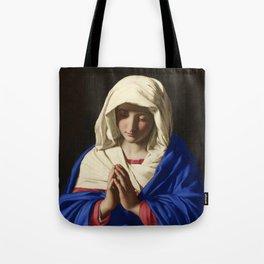 The Virgin in Prayer by Giovanni Sassoferrato (c. 1645) Tote Bag