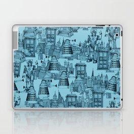 Doctor Who Toile de Jouy   'Walking Doodle'   Turquoise Laptop & iPad Skin
