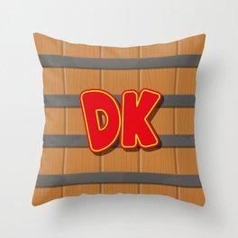 Donkey Kong Barrel Throw Pillow