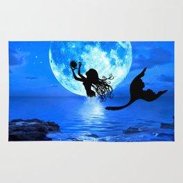 Moonlight Mermaid - Blue Rug