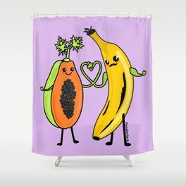 Love between woman and man Shower Curtain