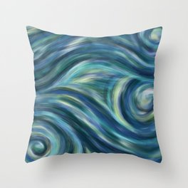 Gogh with the flow Throw Pillow