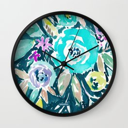 BEAUTY AND THE BADASS FLORAL Wall Clock