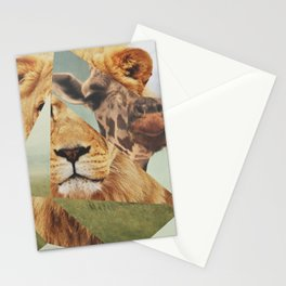Geometric Animals Stationery Cards
