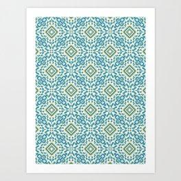 Paia sea foam green squares Art Print