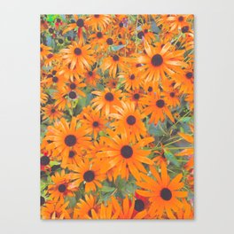Sunny Flowers Forever Canvas Print