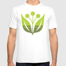 Chartreuse Spring Mens Fitted Tee White SMALL