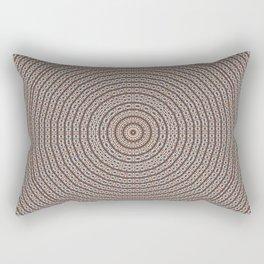 Kaleidoscope Blue and Beige Pattern Rectangular Pillow
