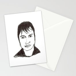 Biro drawing of the actor Gael Garcia Bernal Stationery Cards