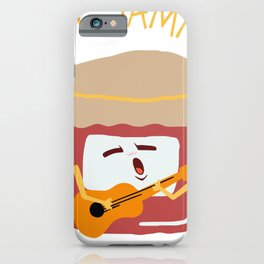 Cute Funny Pun Just Jammin' Jam Guitar iPhone Case